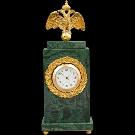 Clock Alexander II marble - polishedmade of materials: Bronze : Marble manufacturing technique Polished - handmade