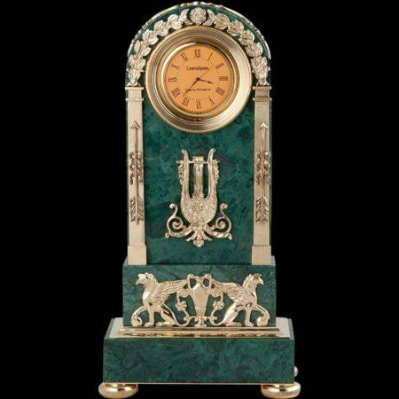 Sparta marble clockmade of materials: Bronze , Marble manufacturing technique Gilding - handmade