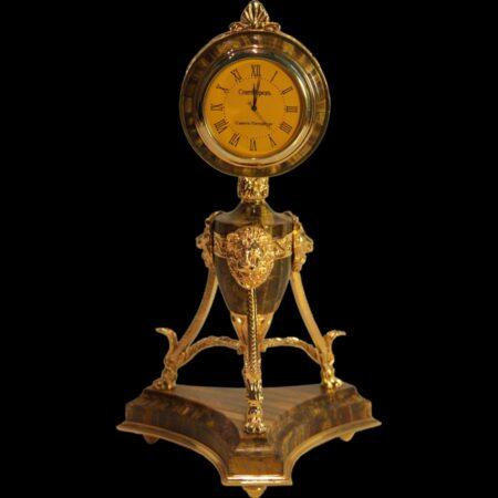 Mycenaean Clock - Tiger's Eyemade of materials: Bronze , Tiger's Eye manufacturing technique Polished - handmade